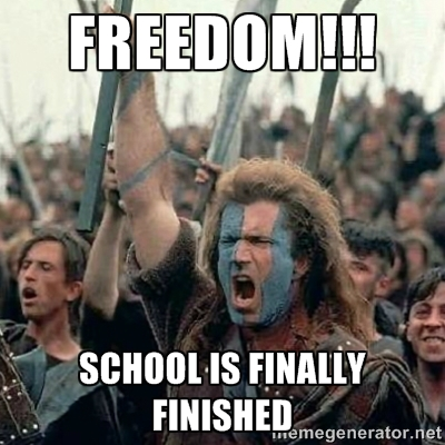 finished with school